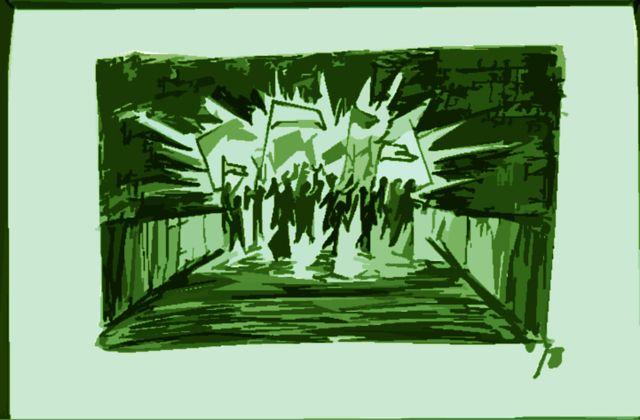 Protest sketch 2